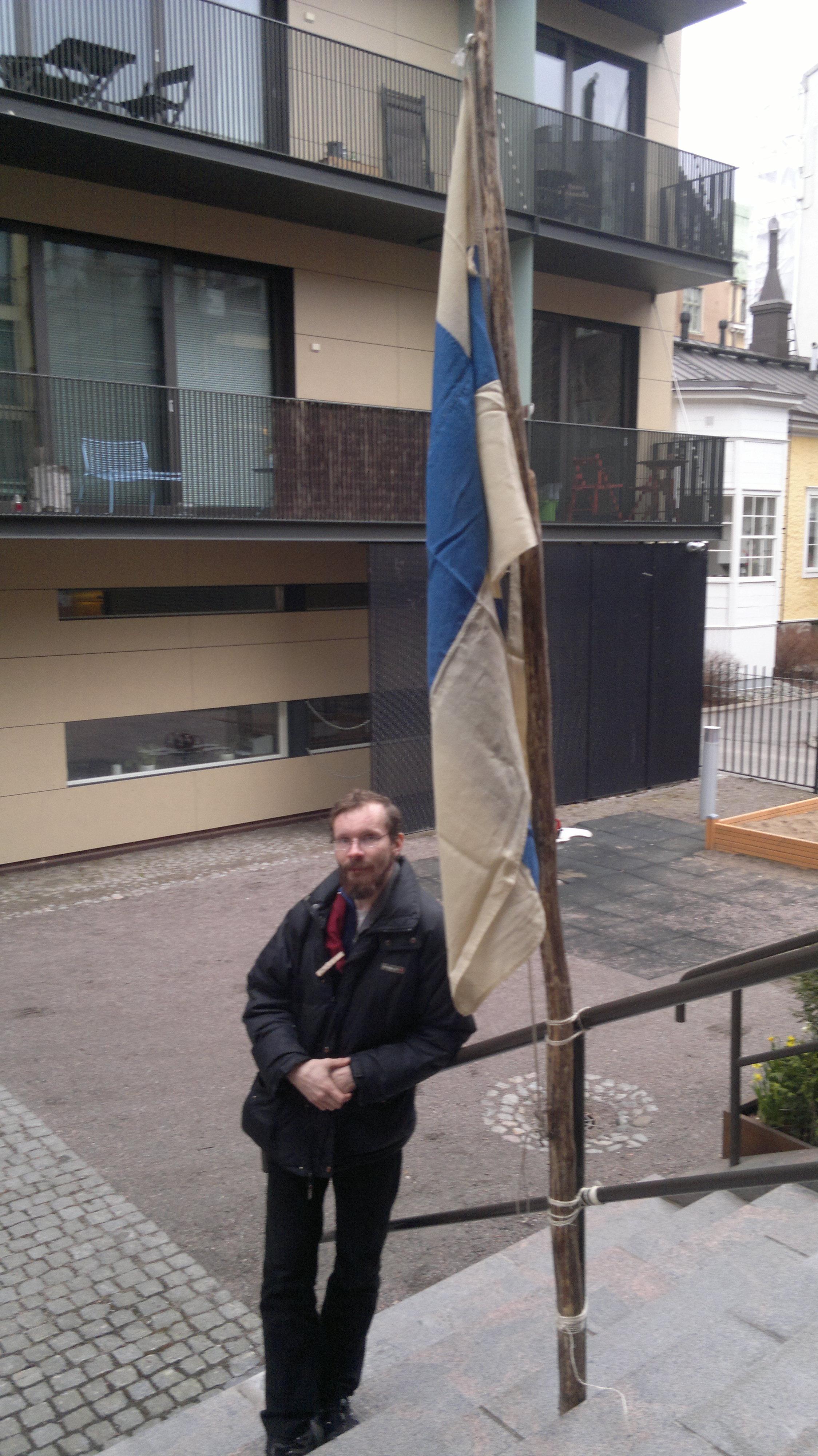 Olli ja Suomen lippu